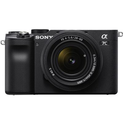 Image of Sony Alpha a7C Mirrorless Camera w/ 28-60mm Lens (Black)