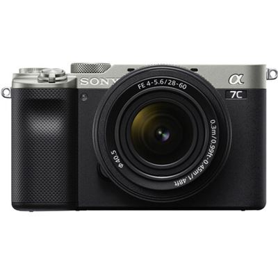 Image of Sony Alpha a7C Mirrorless Camera w/ 28-60mm Lens (Silver)