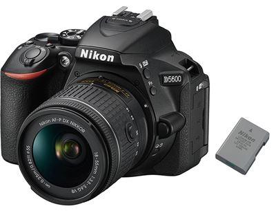 Image of Nikon D5600 DSLR Camera AF-P DX Nikkor 18-55mm f3.5-5.6G VR Lens + extra EN-EL14a battery bundle