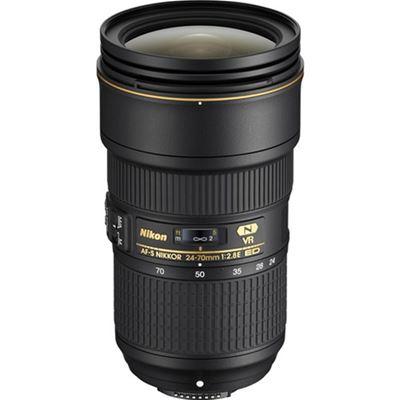 Image of Nikkor AF-S 24-70mm f/2.8E ED VR Lens with Bonus