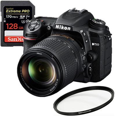 Image of Nikon D7500 DSLR Camera w/ 18-140mm Lens + Bundle