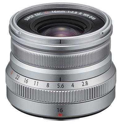 Image of Fujifilm Fujinon XF 16mm F2.8 R WR Lens (Silver) + Bonus