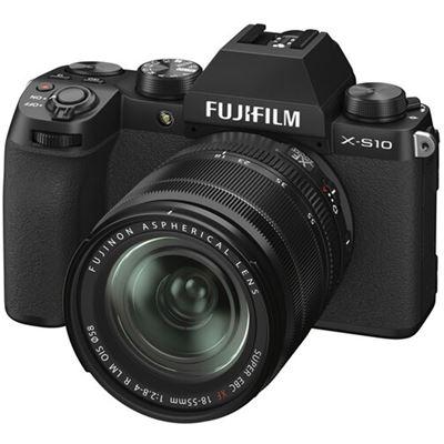 Image of FUJIFILM X-S10 Mirrorless Digital Camera w/ 18-55mm Lens + BONUS