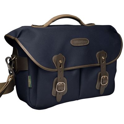 Image of Billingham Hadley One (Navy Canvas / Chocolate Leather)