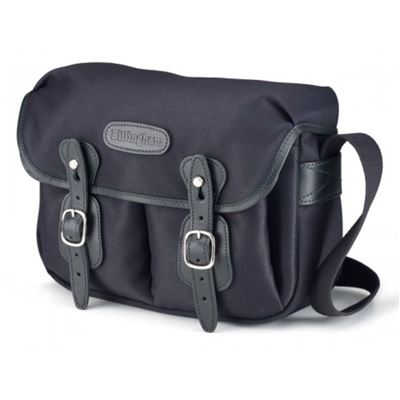 Image of Billingham Hadley Small (Black fibrenyte, Black leather, Nickel fittings)