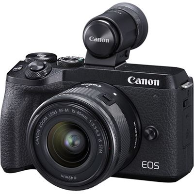 Image of Canon EOS M6 MKII Mirrorless Camera w/ EF-M 15-45mm IS STM