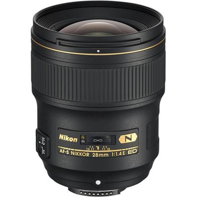 Image of Nikkor AF-S 28mm F1.4E ED Lens with Bonus