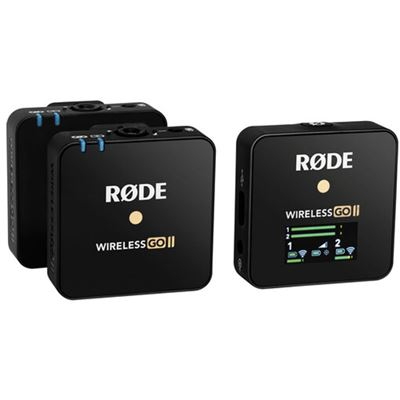 Image of Rode Wireless GO II 2-Person Compact Digital Wireless Microphone System/Recorder (2.4 GHz, Black)