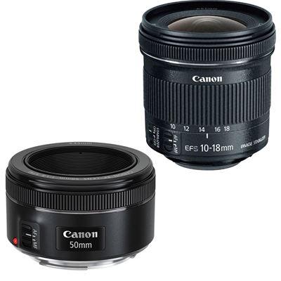 Image of Portrait & Travel Bundle - EF 50mm F1.8 + EF-S 10-18 STM Lens