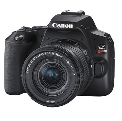 Image of Canon EOS Rebel SL3 DSLR Camera w/ 18-55mm Lens (Black) + BUNDLE