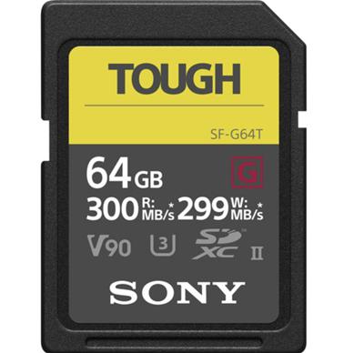 Image of Sony 64GB SF-G Tough Series UHS-II SDXC Memory Card