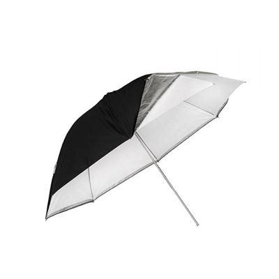 "Image of Aden Camera 43"" Convertable White Umbrella"
