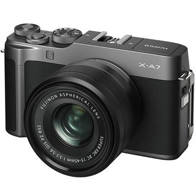 Image of FUJIFILM X-A7 Mirrorless Digital Camera w/ 15-45mm Lens (Dark Silver) + BONUS
