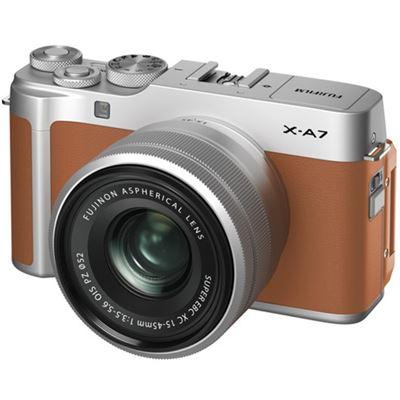 Image of FUJIFILM X-A7 Mirrorless Digital Camera w/ 15-45mm Lens (Camel) + BONUS