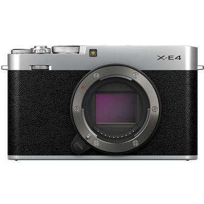 Image of FUJIFILM X-E4 Mirrorless Digital Camera (Body Only, Silver)