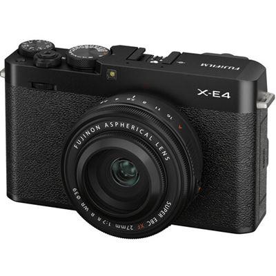 Image of FUJIFILM X-E4 Mirrorless Digital Camera w/ XF 27mm F2.8 R WR Lens (Black)