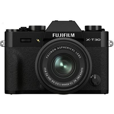 Image of FUJIFILM X-T30 II Mirrorless Digital Camera w/ 15-45mm Lens (Black)