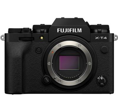 Image of Fujifilm X-T4 Mirrorless Camera (Body, Black) + BONUS