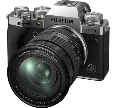 Image of Fujifilm X-T4 Mirrorless Camera w/ 16-80mm Lens (Silver) + BONUS
