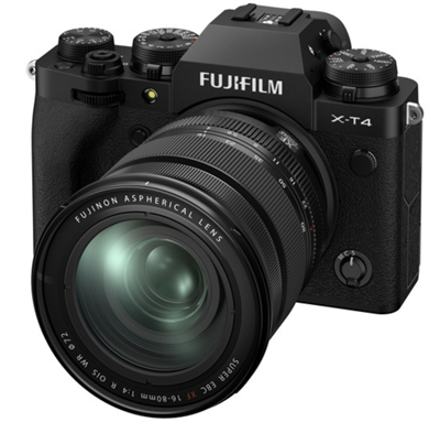 Image of Fujifilm X-T4 Mirrorless Camera w/ 16-80mm Lens (Black) + BONUS