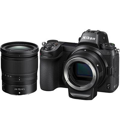 Image of Nikon Z6 Mirrorless Digital Camera w/ Nikkor Z 24-70mm F4 S lens & FTZ Mount Adapter Kit + BONUS