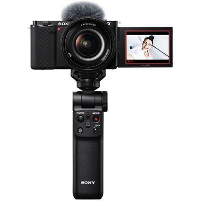 Image of Sony ZV-E10 Mirrorless Camera w/ 16-50mm Lens (Black) Vlogger Kit