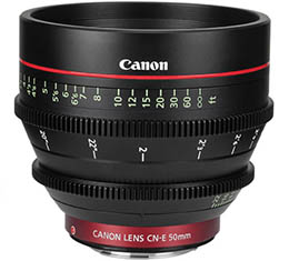 Image of Canon CN-E 50mm T1.3 L F Cine Lens (EF Mount)