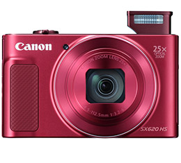 Image of Canon PowerShot SX620 HS Digital Camera (Red)