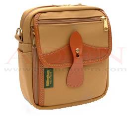 Image of Billingham Pola Stowaway (Khaki canvas, tan leather, brass fittings)