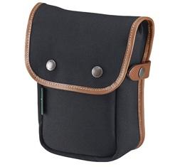 Image of Billingham Delta Pocket (Black Canvas, Tan Leather)