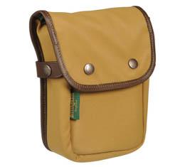 Image of Billingham Delta Pocket (Khaki FibreNyte, Chocolate Leather)
