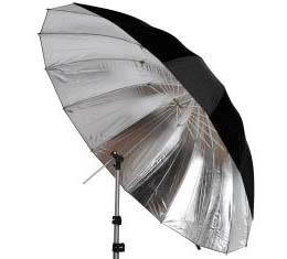 """Image of Cameron 60"""" Silver / Black Umbrella"""