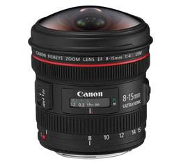 Image of Canon EF 8-15mm f4L Fisheye USM