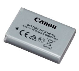 Image of Canon NB-12L Lithium Ion Battery (for G1X Mark II / N100)