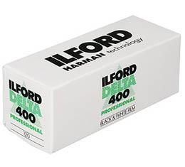 Image of Ilford Delta 400 Black & White Print Film - 120 Roll