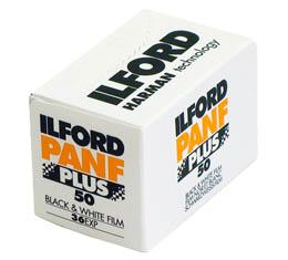 Image of Ilford Pan F Plus 50 Black & White Print Film - 135-36exp