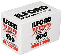 Image of Ilford XP2 Super 400 Black & White Print Film - 135-36exp