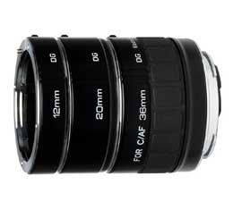 Image of Kenko DG Teleplus Extension Tube Set For Canon EF/EF-S Lenses