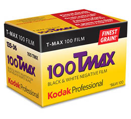 Image of Kodak Professional T-Max 100 Black & White Print Film - 135-36exp