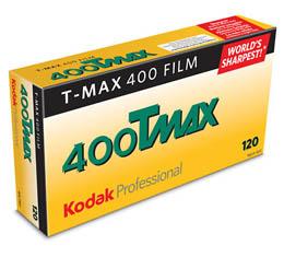 Image of Kodak Professional T-Max 400 Black & White Print Film - 120 Roll ProPack (5 Rolls)