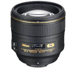 Image of Nikkor AF-S 85mm f1.4G with Bonus