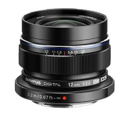 Image of Olympus M.Zuiko Digital ED 12mm f/2.0 Lens - Black (Micro Four Thirds Mount)