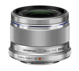 Image of Olympus M. Zuiko 25mm F1.8 (Micro Four Thirds - Silver)