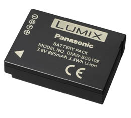 Image of Panasonic DMWBCG10 - Lithium Ion Battery for DMC-ZS series