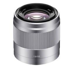 Image of Sony SEL 50mm F1.8 OSS E-mount Lens (Silver) (SEL50F18)