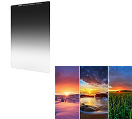 Image of Nisi 180x210mm Nano IR Soft Graduated Neutral Density Filter - ND8 (0.9) - 3 Stop
