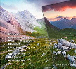 Image of Nisi 150x170mm Nano IR Soft Graduated Neutral Density Filter - ND16 (1.2) - 4 Stops