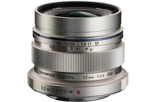 Image of Olympus M.Zuiko Digital ED 12mm f/2.0 Lens - Silver (Micro Four Thirds Mount)