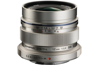 Olympus M.Zuiko Digital ED 12mm f/2.0 Lens - Silver (Micro Four Thirds Mount)