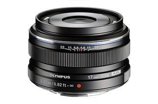 Olympus M.Zuiko Digital 17mm f1.8 (Micro Four Thirds - Black)